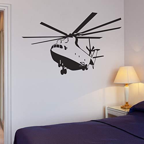 Neue Hubschrauber Wandtattoo Apache Hubschrauber Krieg Militär Jungen Zimmer Vinyl Aufkleber Kostenloser Versand 60X90 Cm