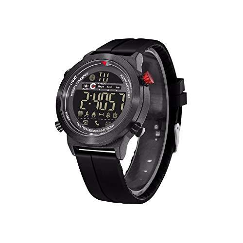 LRWEY Fitness Armband mit Pulsmesser, Smart Armband Sport Fitness Aktivität Leuchtende Wasserdichte Mode Smart Uhr, Für iOS Android