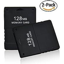 TPFOON 2 Stück Speicherkarte 128MB Memory Card für Sony Playstation 2 PS2