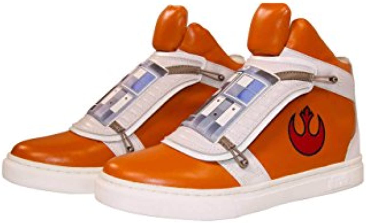 Musterbrand Star Wars Sneakers Unisex Skywalker X Wing High Top Flap Closure Rebel Pilot Design Orange