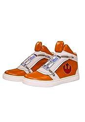 Musterbrand Star Wars Sneakers Unisex Skywalker X-Wing High-top Flap Closure Rebel Pilot Design Orange 45