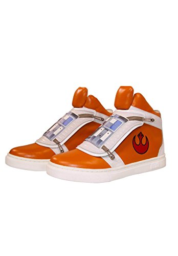 Musterbrand Star Wars Sneakers Unisex Skywalker X-Wing High-top Flap Closure Rebel Pilot Design Orange 44 -