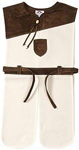 Fantashion G 21 - Disfraces infantiles, túnica Ivanhoe de caballero, blanco