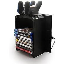 Samoleus Torre de almacenaje multifuncional con Estación de carga de controlador y Soporte de la consola para Sony Playstation 4 PS4 (Controller Holder for PS4)