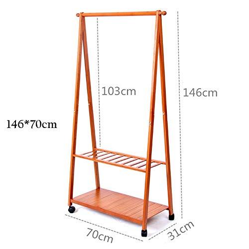 XIN Kleiderständer Kleiderständer Schlafzimmer Multifunktions Boden Typ Bambus Kunst Es kann Lagerung ungekühlt haltbar und langlebig, Kleidung Baum bewegen,146 * 70cm -