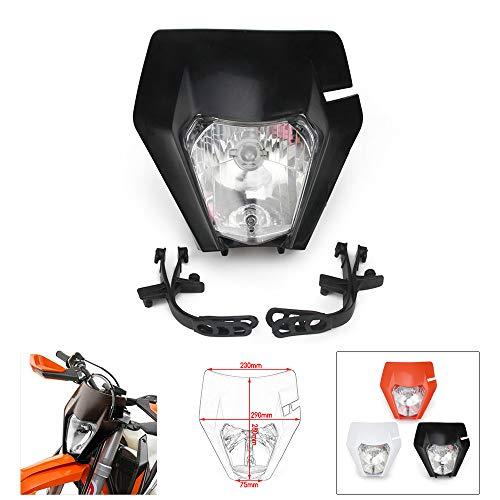 JFG RACING Dirt Bike Headlight Motorcycle Head Light carenatura Maschera luci diurne per 2017KTM EXC250SX250SXF250EXC450SX350SXF450EXC525640LC4Dirt Bike Enduro ATV Scooter