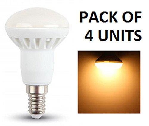 Netzspannung Scheinwerfer (V-TAC R39-LED-Reflektor, Leuchtmittel–4Stück–E14–Kleine Edison-Fassung–SES–3W/210 lm–Warmweiß, 3000K–Abstrahlwinkel 120Grad–nicht dimmbar/entspricht 25-W-Glühlampe/220–240V/20000Stunden Lebensdauer)