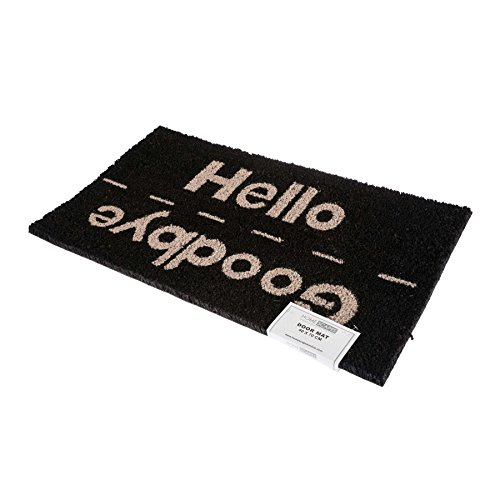 Felpudo Natural Hello / Goodbye Color Negro