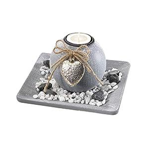 Locker Dekoschale aus Holz mit Einer Kerze