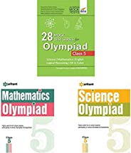 28 Mock Test Series for Olympiads Class 5 Science, Mathema&Olympiad Books Practice Sets - Mathematics Clas