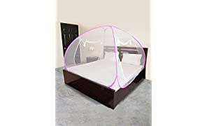 IMPOWER Mosquito Net Foldable King Size (Double Bed)