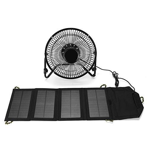 Especificaciones: Voltaje de funcionamiento: 5.5 V Potencia: 7W Ventilador: 8 pulgadas Peso: 1065g Salida: interfaz USB Corriente de trabajo: 0-1200MA Wafer: panel solar policristalino Funciones: -Diseño ultra-silencioso. -ajuste de ángulo de 360 °....