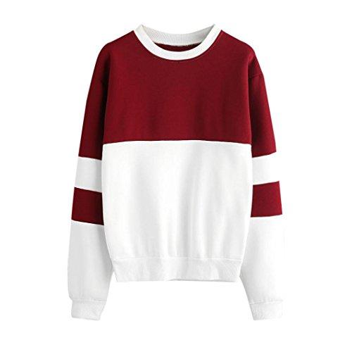 Damen Kapuzenpullover Hoodie Xinan Langarm Sweatshirt Princess Brief Drucken Top (L, ❤️Rot) (Applique Kapuzen-sweatshirt)