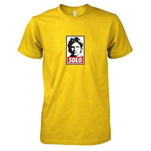 Herren T-Shirt, Größe XXL, gelb (Prinzessin Leia Jabba The Hutt-kostüm)