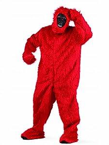 Limit Sport - Disfraz de peluche gorila para adultos, color rojo, talla L (MA067R)