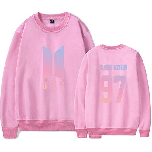 SIMYJOY Amants BTS Ventilateurs Sweat KPOP Pulls Collège Hip Hop Sweat Shirt Pour Hommes Femmes Adolescents rose Jung Kook 97