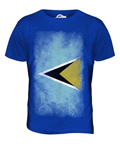 CandyMix St. Lucia Verblichen Flagge Herren T Shirt Königsblau