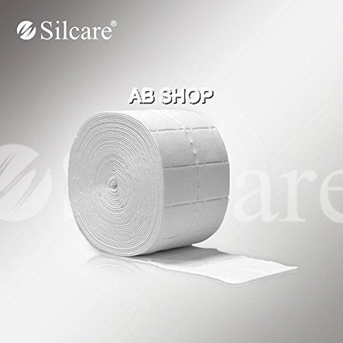 500 unidades de toallitas de algodón limpia uñas Silcare, resistentes al polvo y de alta calidad.