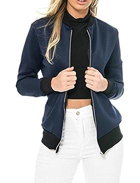 Vovotrade mujeres capas de la chaqueta de manga larga