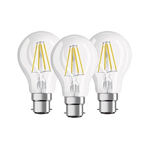 Osram - Lot de 3 Ampoules LED Filament Standard - Culot B22 - 7 W Equivalent 60 W - Blanc Chaud 2700K