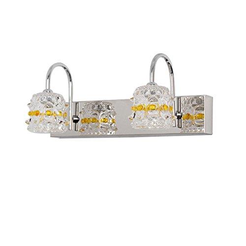 Energie sparen LED Spiegel Scheinwerfer, Klassischen Europäischen Stil Wandleuchte Bad Licht Make-up Bad Mittelmeer Gespiegelt Schrank Beleuchtung Beleuchtung 30/46 cm Dauerhaft (größe : 2 head) -