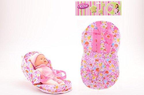 Preisvergleich Produktbild Baby Rose 2 in 1 Puppen-Trage Bauch-Trage in rosa