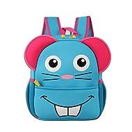 KAXIDY Sac à Dos Scolaire Ecole Primaire Maternelle Dessin Animé Enfants à Dos Fille Garçon (Bleu)