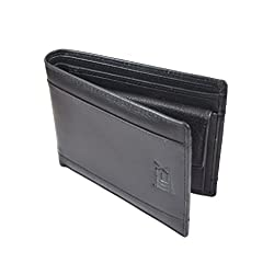 iMEX Men Formal Black Genuine Leather Wallet