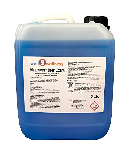 well2wellness Pool Algenverhüter + Algenvernichter Extra 'Blue' 5,0 l...