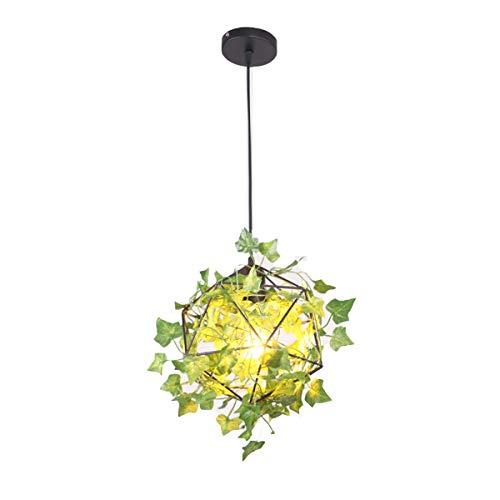 Moderne Nordic Pendelleuchte Glas, Deckenleuchte Kronleuchter LED Pendelleuchte Vintage Kronleuchter Innendekoration Simulation Grüne Pflanze Blume Diamant Kronleuchter für Kleidung Schaufenster Kaffe