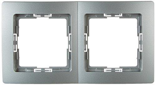 Preisvergleich Produktbild Kopp 402520010 Profi-Pack Abdeckrahmen 2-fach (5 Stück) Paris Silber , 1 Stück,