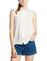 ONLY Women's Onljada Lace White Dnm Shirt Qyt Vest