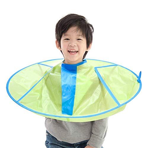 Pieghevole mantello taglio di capelli ombrello mantello taglio di capelli grembiule impermeabile nylon tessuto per bambini