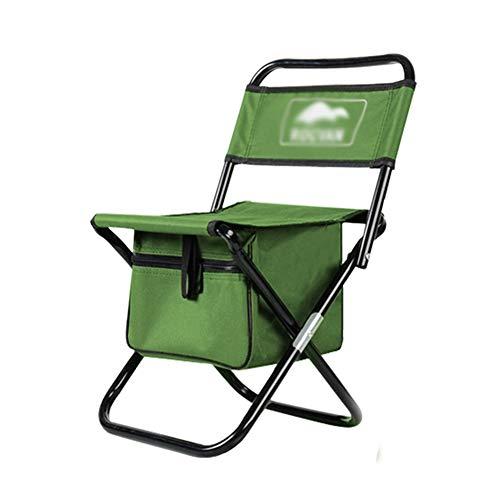 Außenklappstühle Casual Mazar Erwachsenen Tragbaren Multifunktions-Picknick Im Freien Klappstuhl Angeln Skizze Stuhl Stuhl ZHAOFENGE (Farbe : Grün, größe : 33 * 59cm)