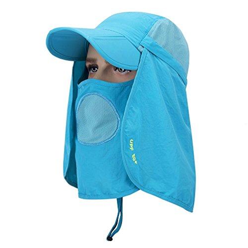 GADIEMENSS UPF 50+ Folding Fishing Hat UV Protection Mask Removable Adjustable Legion Hat Quick Dry Sun Hat Hunting Hat SUM-ZYT718