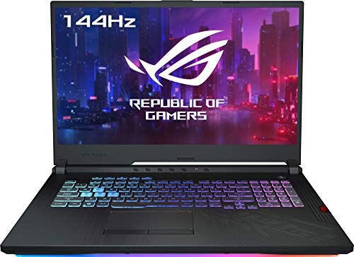 """ASUS ROG Strix Scar III G731GU-EV044- Ordenador portátil gaming 17.3"""" FullHD (Intel Core i7-9750H, 8GB RAM, 1TB HDD, NVIDIA GeForce GTX1660Ti 6 GB, si"""