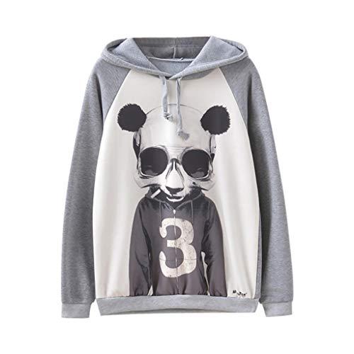 ❤️ AG & T ❤️ Panda Print Hoodie für Frauen, Panda Printed Pullover, Frauen Pullover Langarm Panda Print Sweater - Textmarker Kostüm