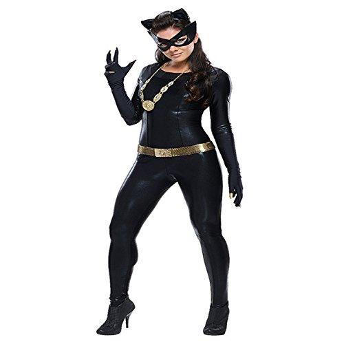 Gorgeous Nachtclubs Halloween-Kostüme schwarzem Lackleder Catwoman Rollenspiele , xl (Schwarze Catwoman Kostüm)