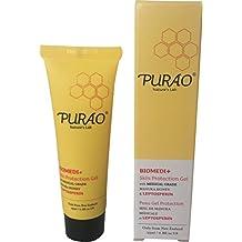 PURAO BIOMEDI+ Natürliches antibakterielles Hautschutzgel mit medizinischem Manuka Honig, Manuka Salbe für Körper und Lippen 25ml