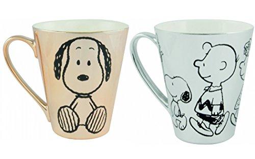 Tasse 2er Set Snoopy gold/silber Edition Kaffeebecher Becher Geschenkidee