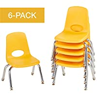 ECR4Kids School Stack Chair with Chrome Legs/Nylon Swivel Glides