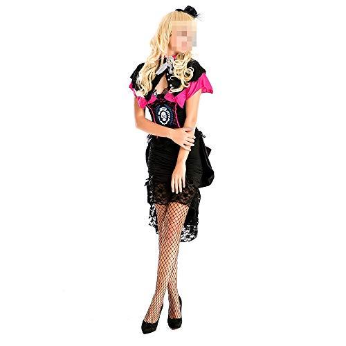 Der Königin Vampire Kostüm Erwachsene Für - kMOoz Halloween Kostüm,Outfit Für Halloween Fasching Karneval Halloween Cosplay Horror Kostüm,Halloween-kostüm-weibliches Erwachsenes Vampirs-königin-kleiderretro- GRAF-kostüm