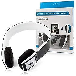 OZZZO Casque Audio Bluetooth Son 3D avec Micro Noir pour HTC Touch Pro 2 t7373