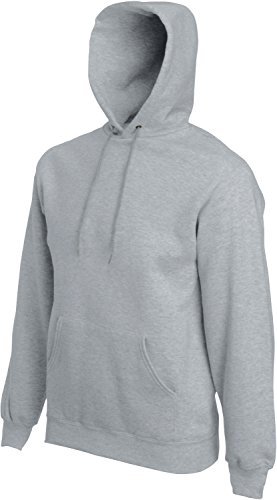 Fruit of the Loom - Kapuzen-Sweatshirt 'Hooded Sweat' M,heather grey M,Heather Grey (Sweat Hooded Grey)