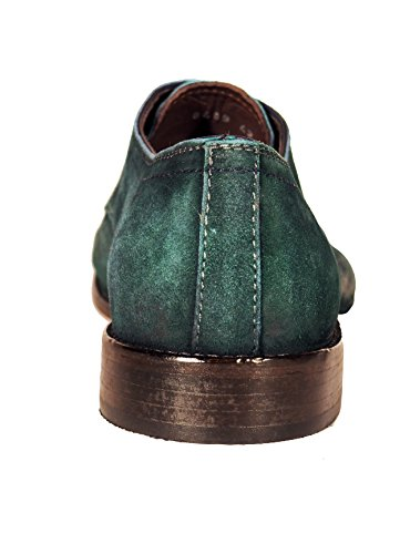 Lorenzi Sciuscia, chaussures à lacets homme Verde (Betulla)