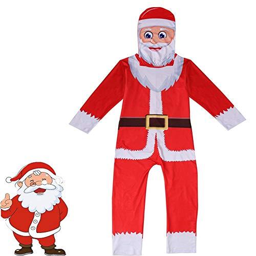 zhaolian888 Weihnachtskostüm Cosplay Pyjamas, Schneemann Kostüm Maskottchen Weihnachtsmann Kostüm Kinder mit Maske für Kinder/Kleinkind