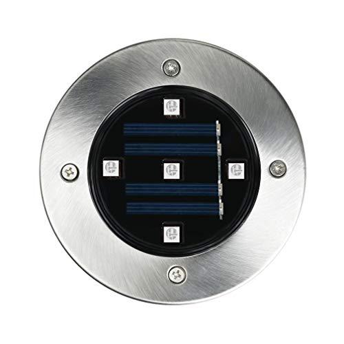 Dicomi LED 4er 5LED Solar Untergrundbeleuchtung Wegeleuchten für Garten Hof Rasen Hinterhof Schwarz -