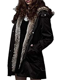 BOLAWOO Winterjacken Damen Reduziert Oversize Warm Übergangsjacke Mit  Kapuze Lange Marken… 00e51ca6e1