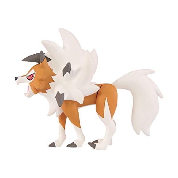 "Takara Tomy Pokemon Collection EX Moncolle ESP_15 Dusk Form Lycanroc 3"" Figure 3"