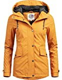 Peak Time Damen Winter Regenmantel L60043 Gelb Gr. S